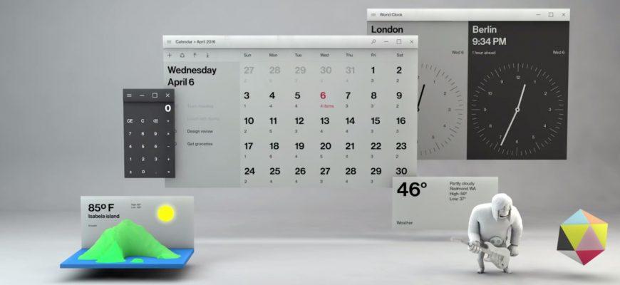 مایکروسافت از طراحی فلوئنت در ویندوز 10 رونمایی کرد