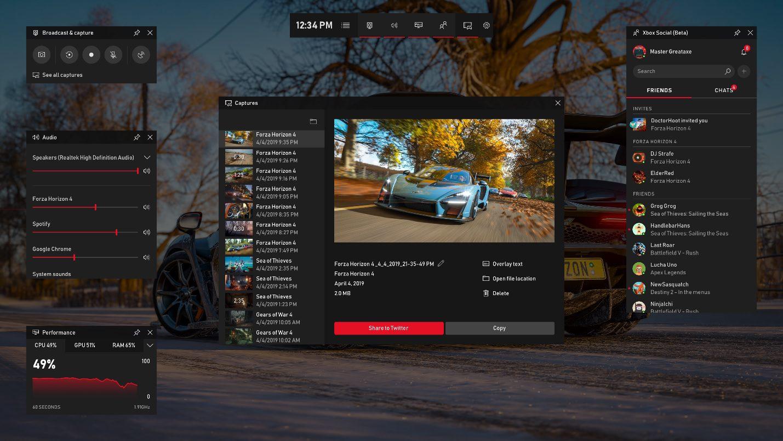بخش گیم بار ویندوز 10 با قابلیت گروه بندیهای ایکس باکس وان آماده عرضه شد