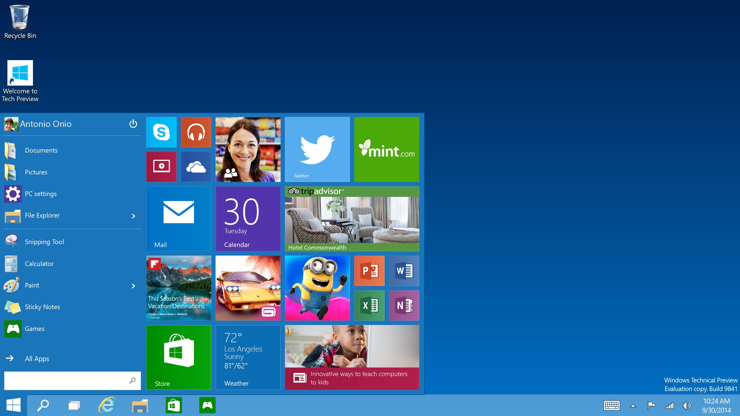 رابط کاربری ویندوز 10 در آینده از طریق مایکروسافت استور قابل شخصی سازی خواهد بود