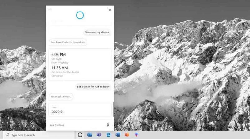 مایکروسافت از اپلیکیشن جدید توسعه داده شده برای کورتانا در ویندوز 10 رونمایی کرد