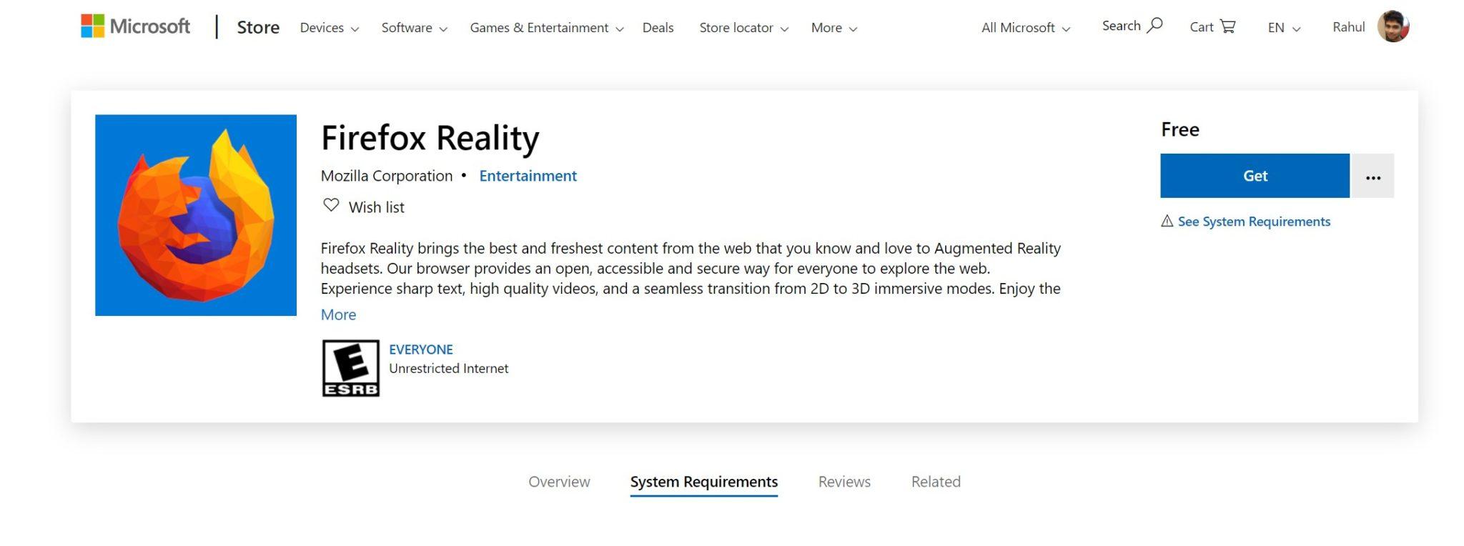 مرورگر جدید فایرفاکس ریلیتی برای کامپیوترهای ویندوزی با قابلیت واقعیت مجازی عرضه شد