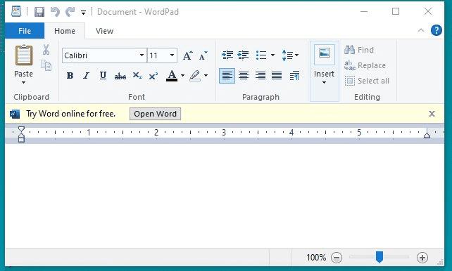 مایکروسافت از این پس تبلیغات را در وردپد ویندوز 10 نشان میدهد